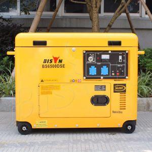 最もよい販売のためのバイソン(中国) BS6500dsec 5kw 5kVA 5000Wの銅線の携帯用長期間の時間極度の無声ディーゼル発電機
