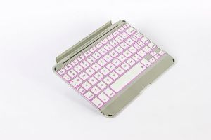 Metaal Tablet Keyboard voor iPad Mini met 7 Color Backlits