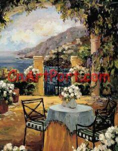 Het Olieverfschilderij van het landschap (APOR0034)