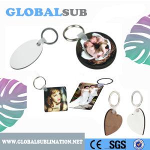Oval/ronda/Square/Coração Esboços de sublimação de MDF Chaveiro