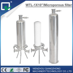 20 mícrones líquido de aço inoxidável do alojamento do filtro de mangas