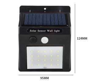IP65 Indooroutdoor светодиод датчика интенсивности солнечного излучения настенный светильник