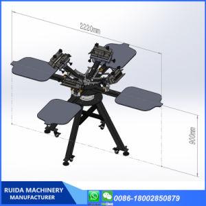 4 Cor 4 Tela de alumínio da estação impressora com Micro Registraion