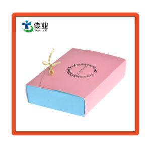 Caja de regalo personalizados de papel con cinta