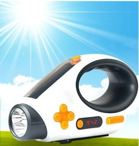 Solar recargable linterna LED para exteriores Emgency