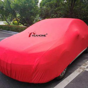 Elastic Soft-Feeling acabado cepillado coche cubre la cubierta interior de lujo