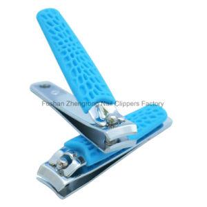 La maniglia variopinta del silicone dei prodotti di bellezza per il chiodo promozionale del regalo Scissor & tagliatori per la barretta (608R-2)