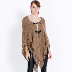 Fashion Acrylic Knitted Winterの女性フリンジのショール(YKY4714)