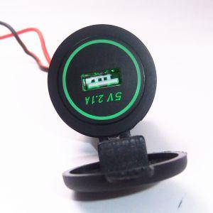 Resistente al agua DC 12-24V 2.1A solo USB Adaptador de cargador de toma de corriente para el Alquiler de Barco Morcycle Marina con la luz indicadora LED
