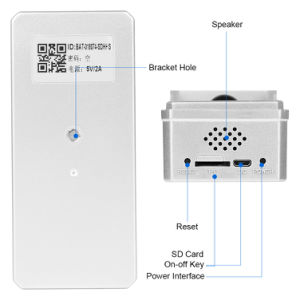 Audio bidireccional al aire libre WiFi Wireless funciona con pilas Mini Cámara