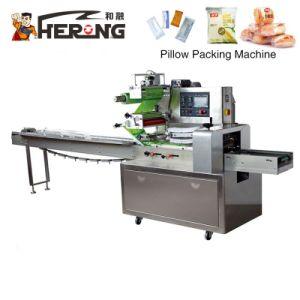 L'imballaggio automatico della tagliatella istante di marca dell'eroe gonfia la macchina imballatrice del cuscino industriale automatico ad alta velocità della torta