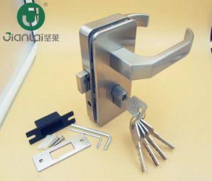 Venda por grosso de liga de zinco da fechadura da porta na parede de vidro com chaves