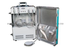 三方スポイトの唾液のイジェクタが付いている歯科携帯用単位の空気圧縮機