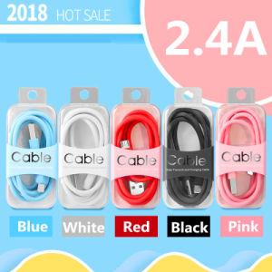 Câble micro USB TPE 2.4A Câbles Chargeur rapide pour iPhone