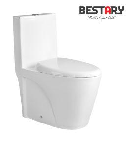 Le meilleur système de rinçage double Wc marque fashion Salle de bains avec des appareils sanitaires Housses de siège de l'eau de toilette de placard (PL-3806)