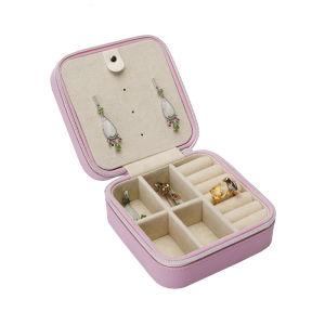 Mode de luxe en cuir de style simple les fermetures à glissière boîte à bijoux