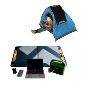 12V a 18V 100W Mono-Crystalline Dobrável Multifunções Painel Solar Saco para computador portátil Camping