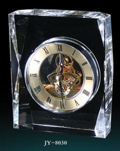 Simple Crystal Desk Clock Decoração Relógio de vidro
