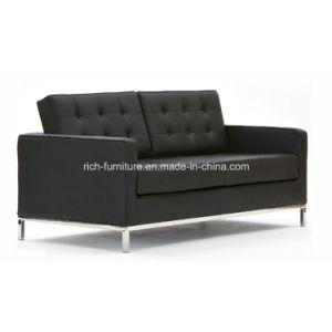 Área de espera do escritório moderno sofá de couro