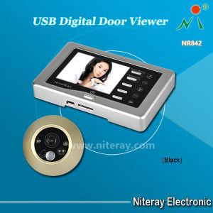 La détection de mouvement porte numérique USB Eye Judas Viewer caméra de sécurité avec enregistreur chambre