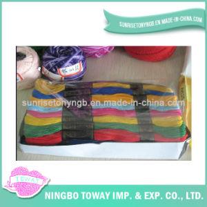 202 203 giraram a linha Sewing do algodão do bordado de matéria têxtil
