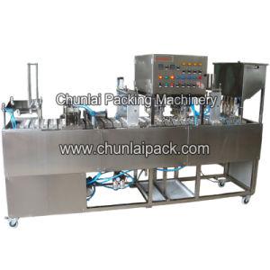 Lavar o copo de água mineral máquina de enchimento e selagem