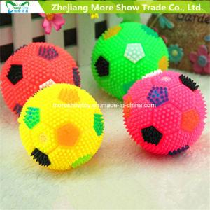 2.5 de fútbol de erizo intermitente ilumina puntiagudos novedad bolas rebotando sensorial