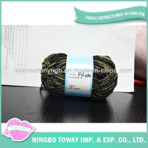 Anel de tricotar Fantasia Deluxe fiado cordões de fios metálicos