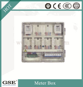 Caixa do medidor monofásico/caixa do medidor de energia/Contador eléctrico com marcação CE e TUV Standand
