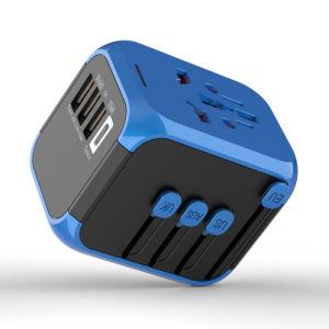 De beste Verkopende Adapter van de Reis van de Wereld van de Adapter van de Macht van de Britse USB Reis van de multi-Natie Universele met Lader USB