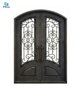 Вступление конструкции окна безопасности из кованого железа с сетчатой безопасности дверей для продажи