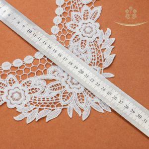 L60013 Collar de GPO de flor rosa blanca / Accesorios de Puntilla de flor blanca de encaje Collar de nylon de prendas de vestir