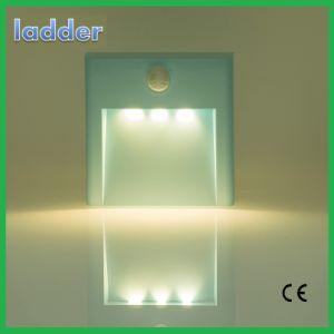 Теплый белый Smart датчиком красочные Светодиодный ночник на стене