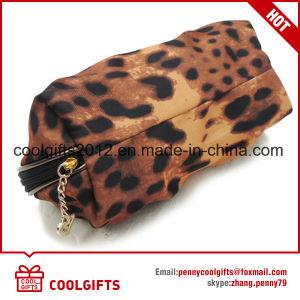 2016 Nouvelle mode Leopard Sac cosmétique de Satin, Lady Sac de maquillage