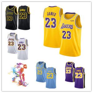 관례에 의하여 Lakers 주문을 받아서 만들어지는 Jerseys 23의 Lebron 제임스 농구 Jerseys