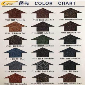 防蝕建築材の着色された石上塗を施してある金属の屋根瓦