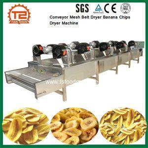 Transportador de correia de malha de fruta Chips de banana do secador da máquina do Secador de Ar