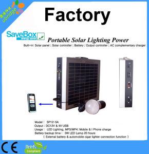 Potencia solar portable de la iluminación/mini sistema eléctrico solar (SP12-5))