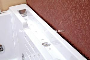 Una sola persona rectángulo masaje acrílico bañera con almohada (TLP-669)