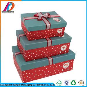 Decorativa Caja de regalo de Navidad de cartón con arco
