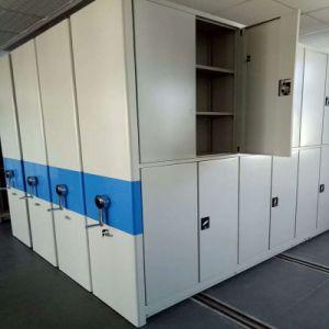 مكتب إستعمال معدن تخزين متحرّك محفوظ رصيف صخري