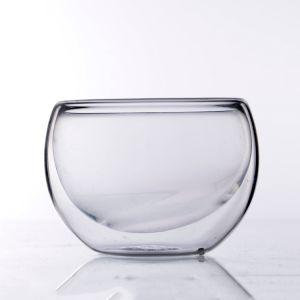 Nuova grande tazza doppia libera della tazza di tè di vetro di Borosilicate