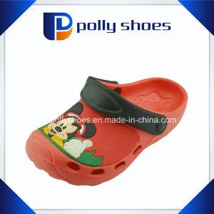 Jardin en plastique de gros de chaussures sabots EVA rouge pour les enfants