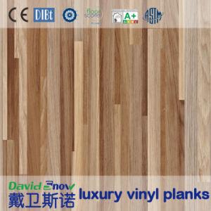 الخشب الحبوب البلاستيكية الفينيل الأرضيات لمكتب / تسوق