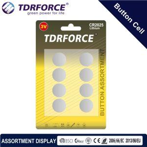 3V Cr Buttom сотовый литиевый аккумулятор с BSCI для Fidget вращатель (CR 8 шт.)