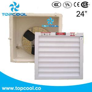 Отработанный вентилятор стеклоткани парника 24inch