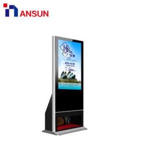 42-дюймовый 3G USB WiFi Android ЖК-дисплей напольная подставка рекламы дисплей с функцией очистки башмака