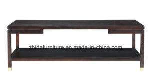 De antigüedades orientales cuadrado negro de madera maciza mesa de café