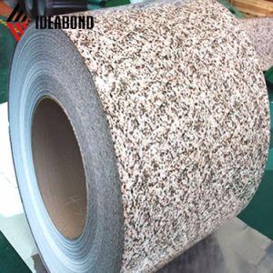 Aspecto de piedra de color de la casa de aluminio de recubrimiento valla