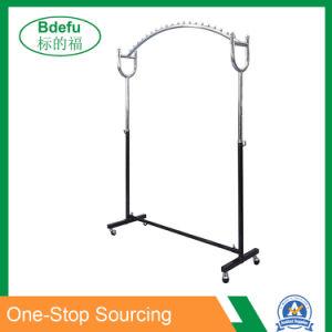 150-180cm hauteur chiffon Arch forme Stand avec des perles d'arrêt de rampe